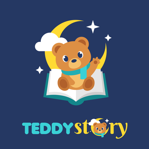Cute design with the title 'Teddy Story'