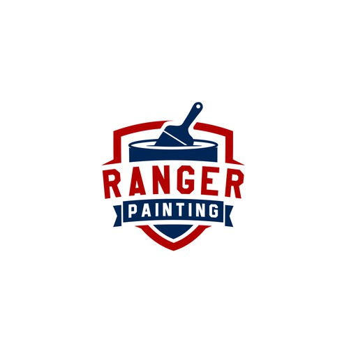 Painter logo with the title 'Classic badge logo for painting company '