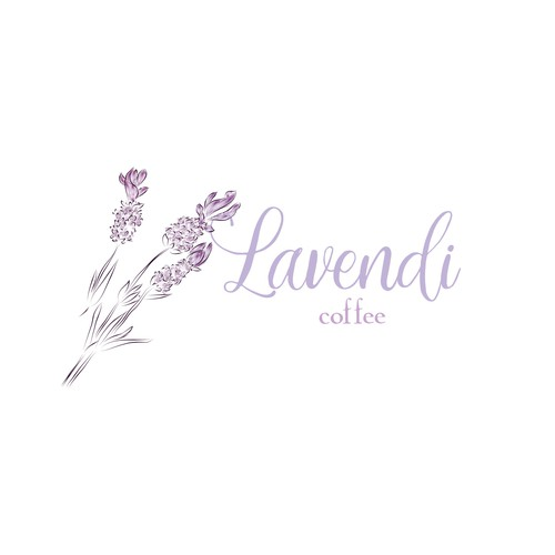 Lavender logo with the title 'Logo for Lavendi coffee'