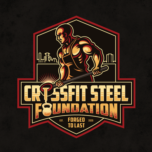 Crossfit design with the title 'Logo for CrossFit gym with history to Steel Stacks'