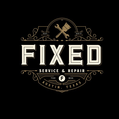 Victorian design with the title 'FIXED LOGO DESIGN'