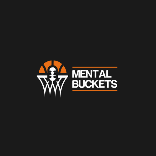 Basketball logo with the title 'Mental Buckets'