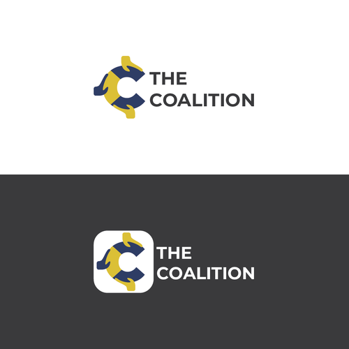 Teamwork logo with the title 'Logo Concept for The Coalition'