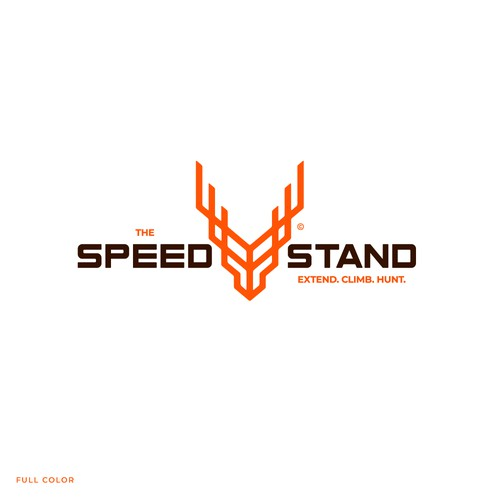 Modern design with the title 'The Speed Stand'