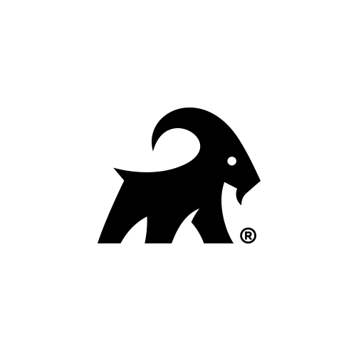 Mountain goat logo with the title 'The Goat Surfboards'