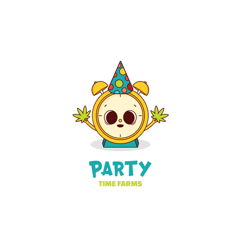 Pharmacy logo with the title 'Party time farms '