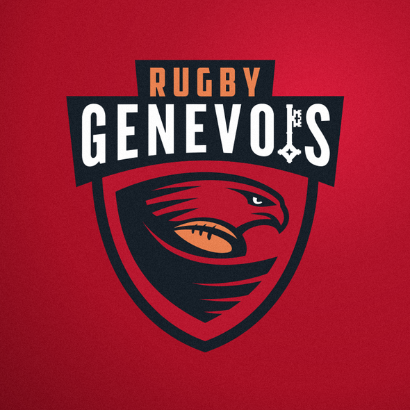 Rugby design with the title 'Logo concept for Rugby in Geneva and Switzerland.'