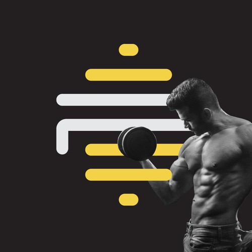 Workout logo with the title 'Fitness Logo and Branding'