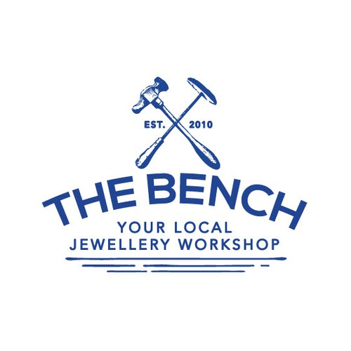 Jewelry logo with the title 'Logo for The Bench, a traditional jewellery workshop'