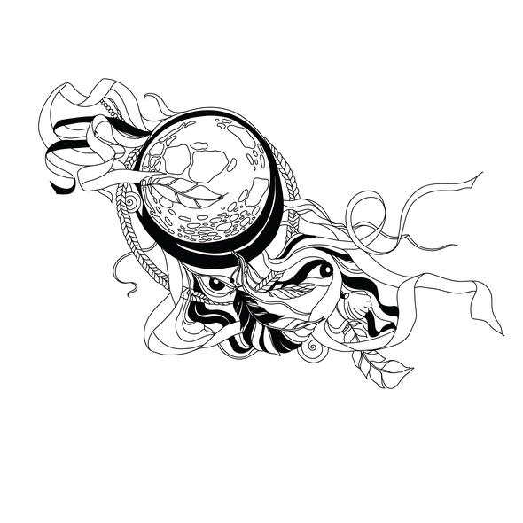 Dreamcatcher design with the title 'Dreamcatcher'