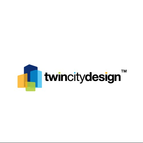 Transparent logo with the title 'Twin City Design'