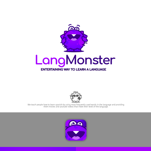 Language logo with the title 'LangMonster Logo'