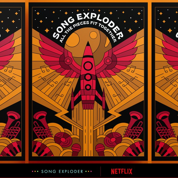Moon design with the title 'SONG EXPLODER POSTER'