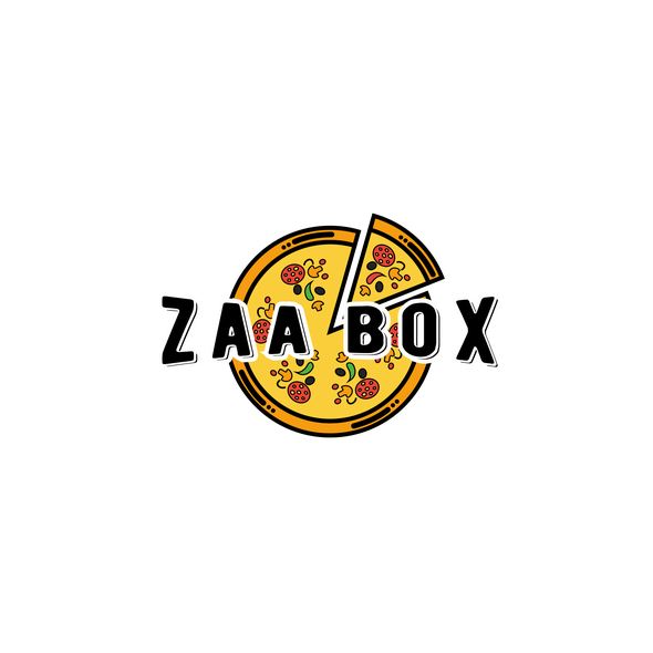 Yellow and orange design with the title 'Zaa Box'