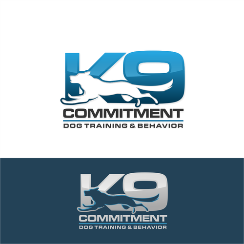K9 design with the title 'Powerful Logo for a professional Dog Training Business'