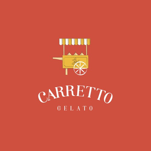 Gelato brand with the title 'Carretto gelato'