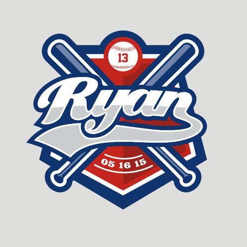 Ball logo with the title 'Ryan's baseball bar mitzvah'