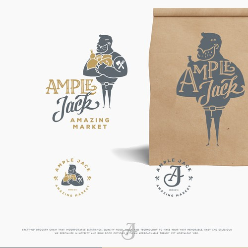 Grocery store design with the title 'logo for AMPLE JACK'