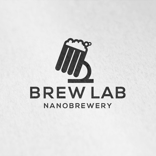 Beer brand with the title 'Logo for a high tech nanobrewery'