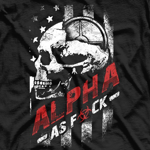 Bodybuilding design with the title 'Alpha'