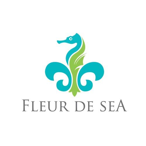 Fleur de lis logo with the title 'Fleur De Sea'