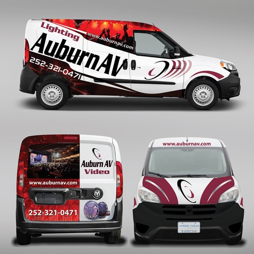 Vehicle graphic design with the title 'Car Wrap'