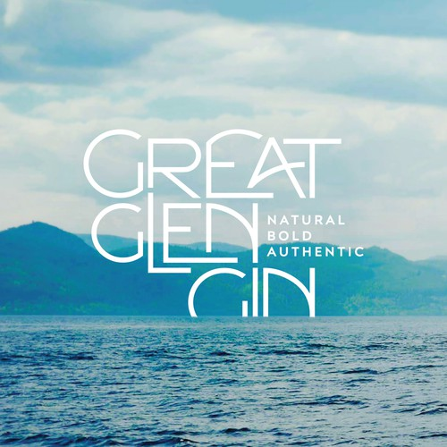 Gin logo with the title 'Great Glen Gin'