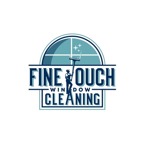 Window design with the title 'Fine Touch Window Cleaning'