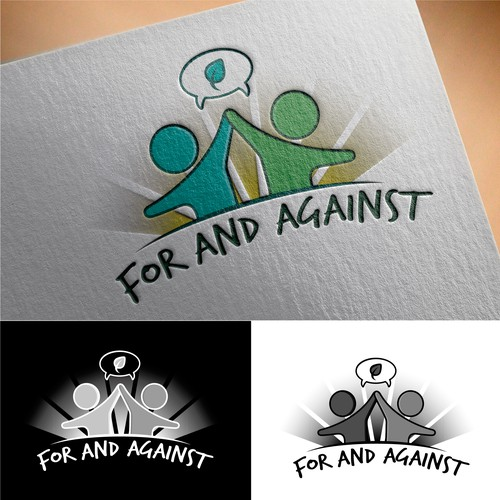 Young adult logo with the title 'For and Against'