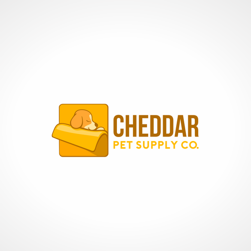 Cheese logo with the title 'Cheddar logo concept'