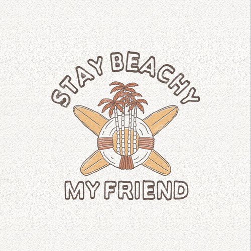 Clothing logo with the title 'Stay Beachy'