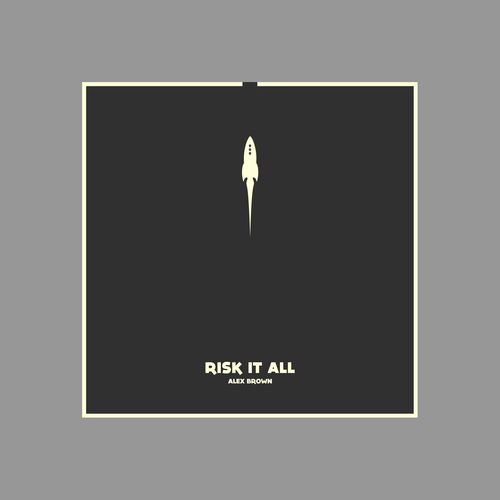 Two-color design with the title 'album cover'