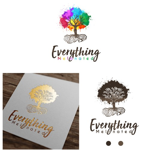 African logo with the title 'Everything Melanated'
