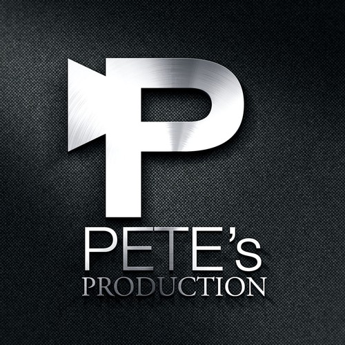Helvetica design with the title 'LOGO concet for a PRODUCTION HOUSE'