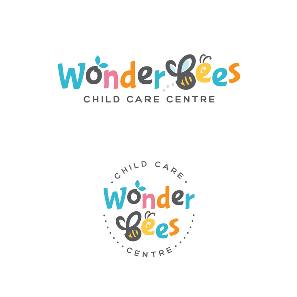 Daycare logo with the title 'WonderBees'