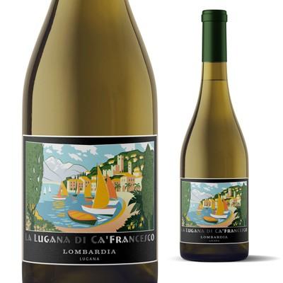 Label for Italian wine La Lugana De Ca'Fancesco