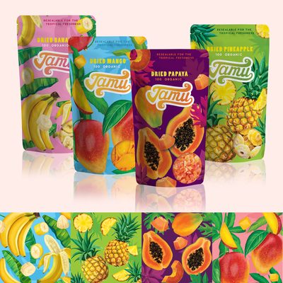 Packaging Design for Dried Fruits collection
