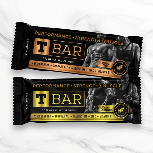 Performance design with the title 'Nutrition Bars Wrappers'