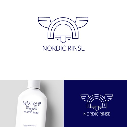 Oslo logo with the title 'Viking themed logo design'