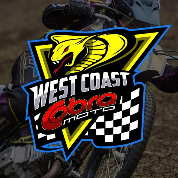 Motocross logo with the title 'West Coast Cobra Moto'