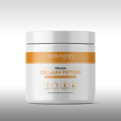 Label for collagen peptides