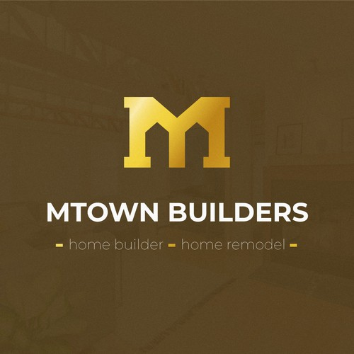 Remodeling design with the title 'Mtown Builders Logo Concept'