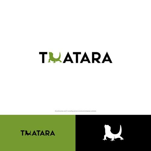 Lizard logo with the title 'Tuatara'