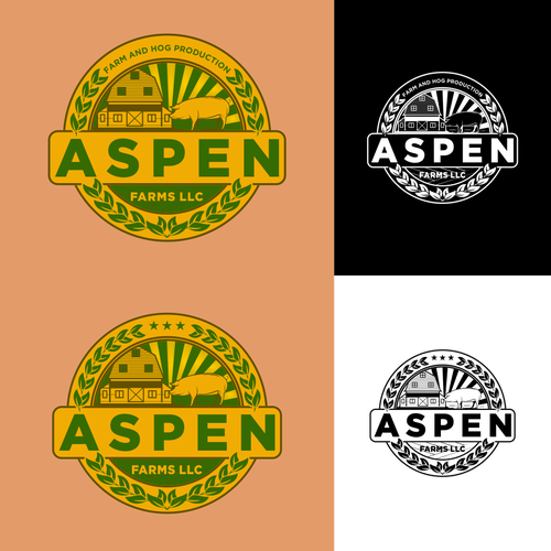 Hog logo with the title 'aspen'