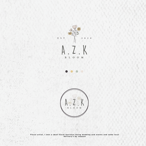 Sunflower logo with the title 'A.Z.K '