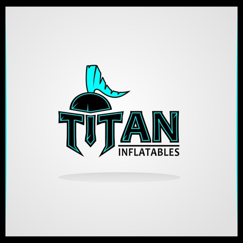 Titan design with the title 'Inflatables manufacturing company'