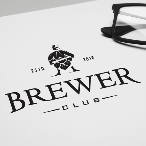 Cultural club logo with the title 'BREWER CLUB'