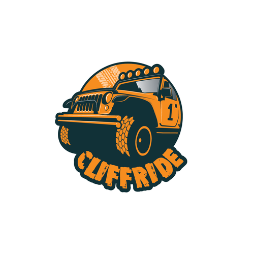 ATV logo with the title 'Cliffride logo design'
