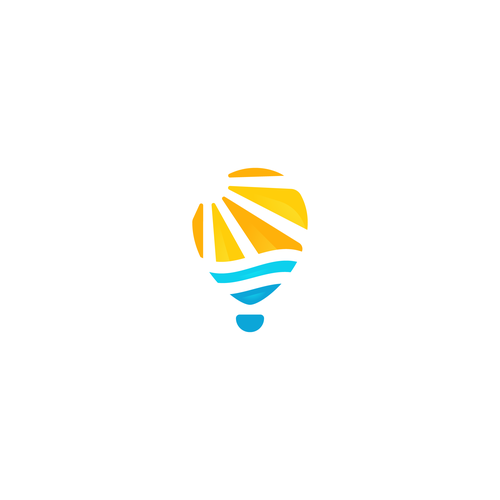Tropical logo with the title 'Sunrise Balloon'