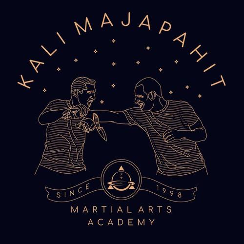 Martial arts design with the title 'Kali Majapahit t - shirt design'